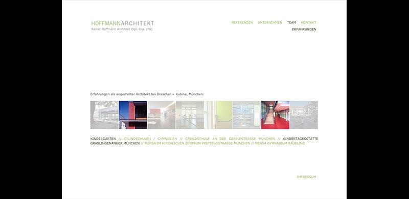 rainer hoffmann architekt m nchen webdesign portfolio. Black Bedroom Furniture Sets. Home Design Ideas